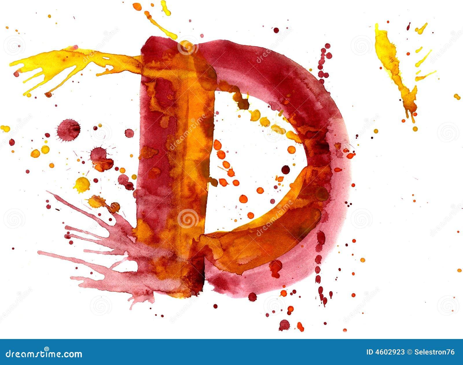 Vernice dell acquerello - lettera D