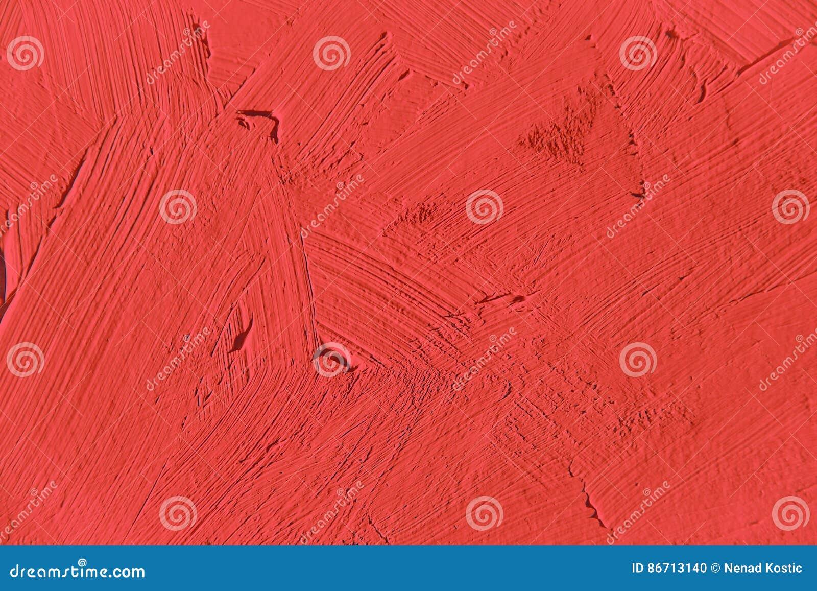 Verniciatura Vicino Su Del Colore Rosso Vivo Fotografia Stock