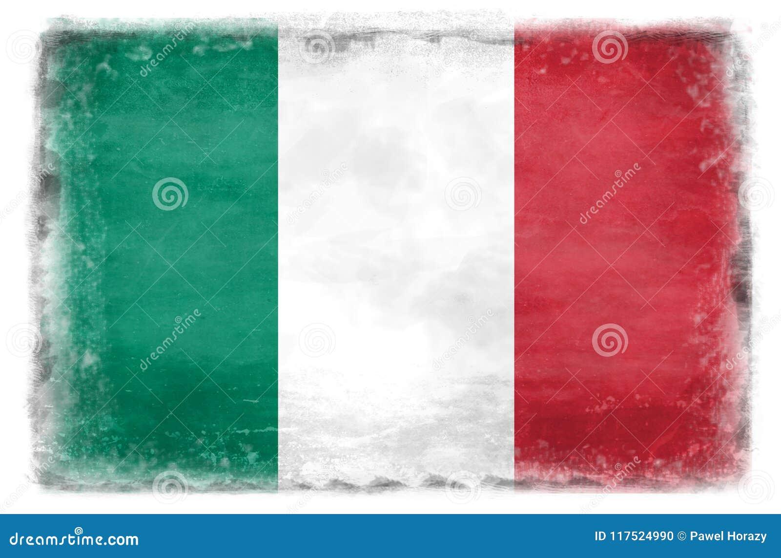 Vernietigde Italiaanse vlag 1