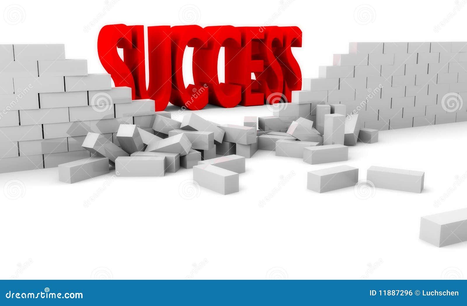 Vernietiging van een bakstenen muur