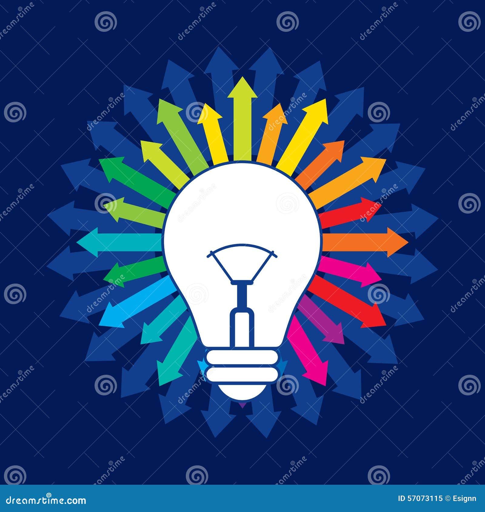 Vernieuwend een nieuwe ideevector