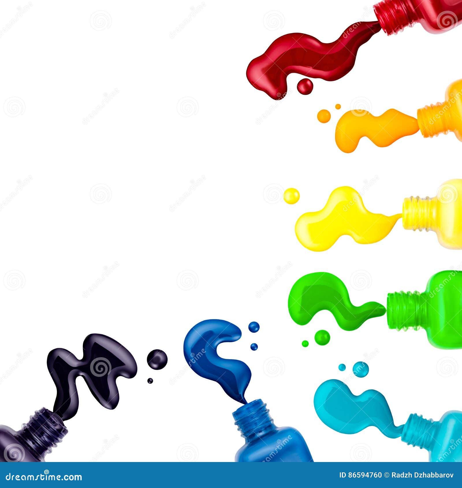 Vernis à ongles coloré, brosse, échantillon, cadre pour le texte