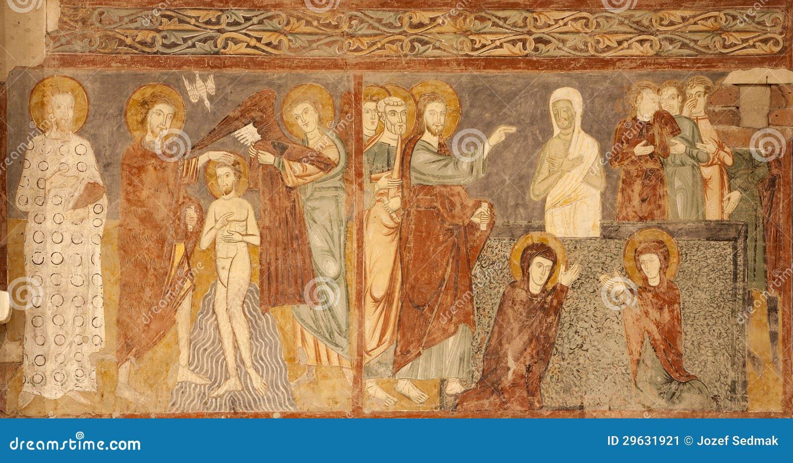 Verona affresco della risurrezione di lazzaro e del battesimo di cristo san zeno immagine - Prezzi tavoli di lazzaro ...