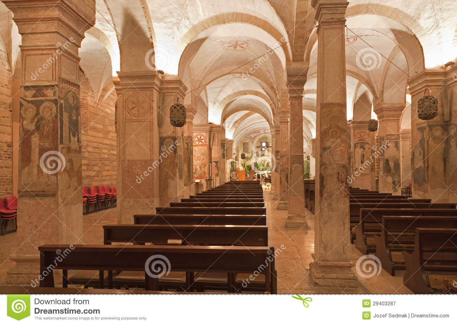 Verona interior of romanesque lower church san fermo - Interior design verona ...