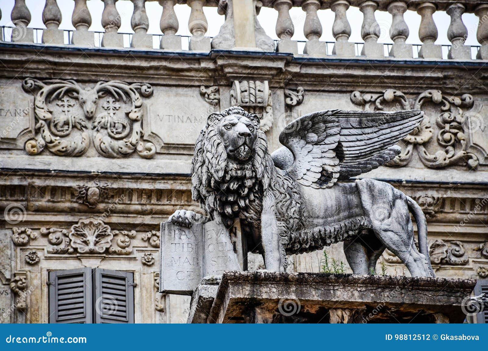 Verona Italy, il leone di St Mark