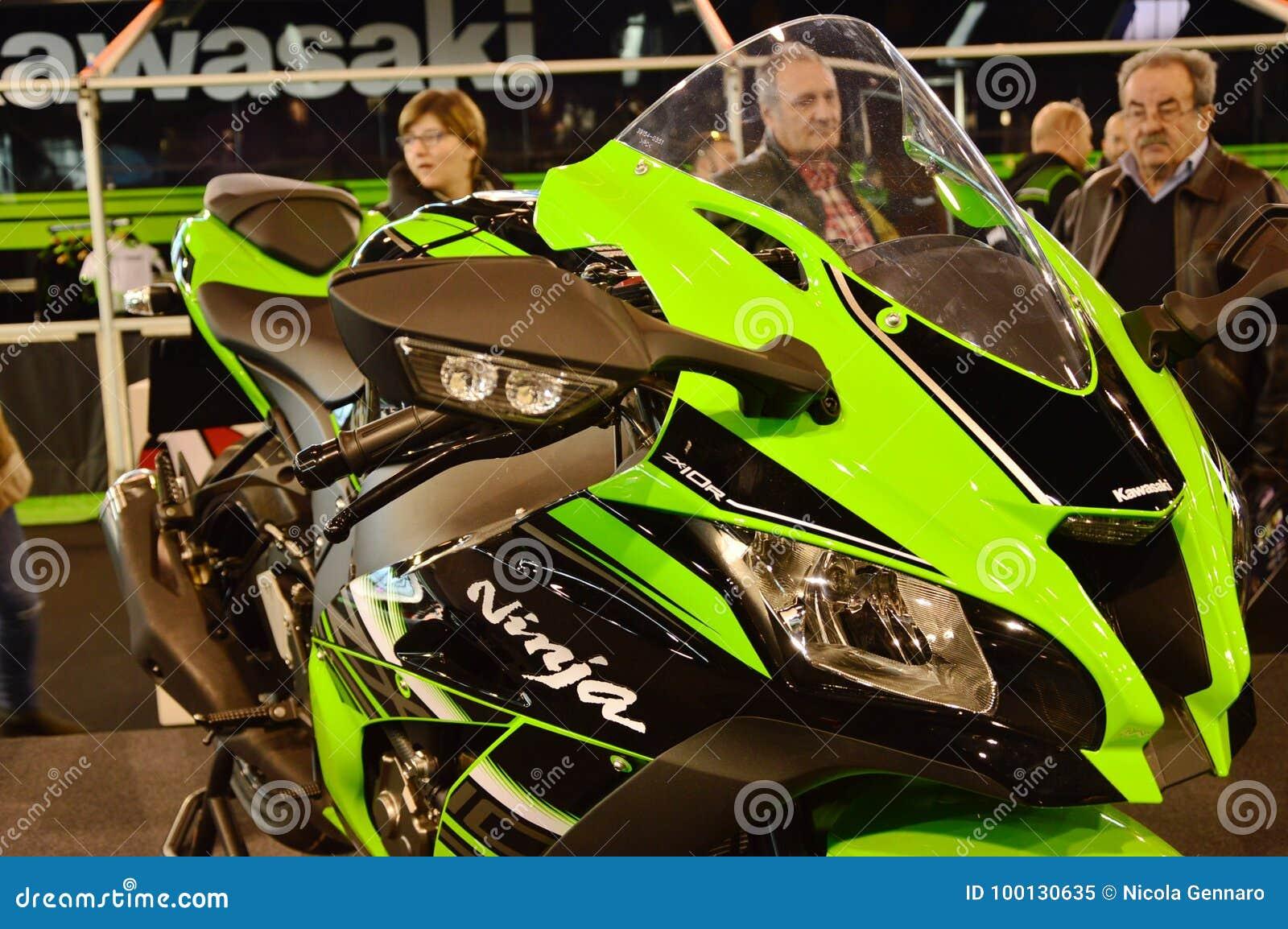 Motor bike expo, motorbike Kavasaki Ninja