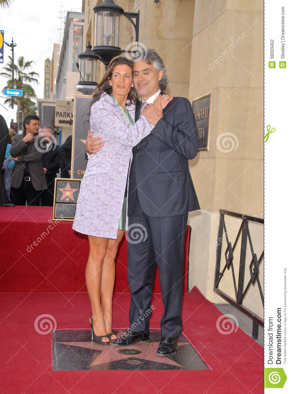 Veronica berti and andrea bocelli at the induction ceremony for andrea