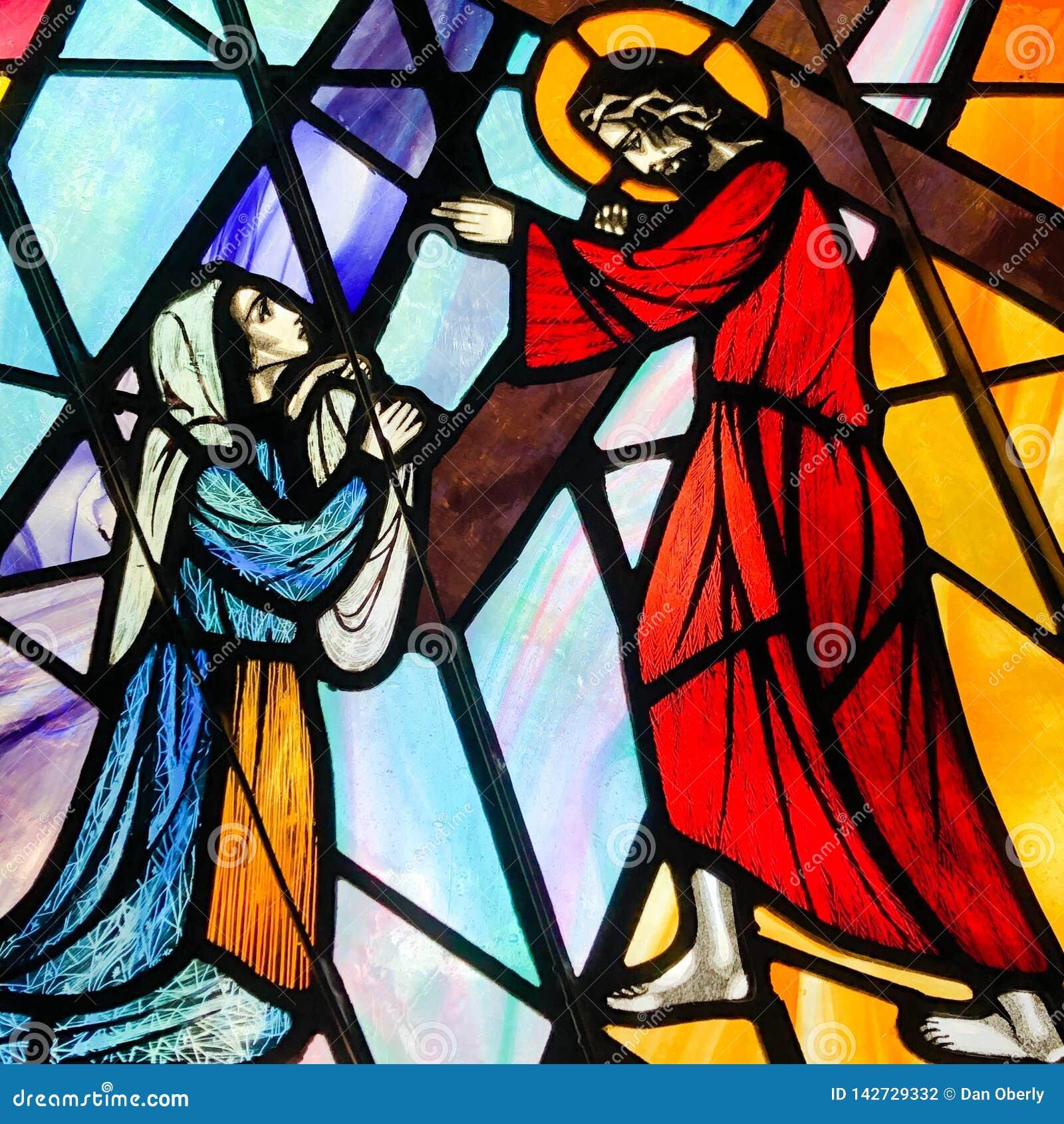 Veronica torkar framsidan av Jesus