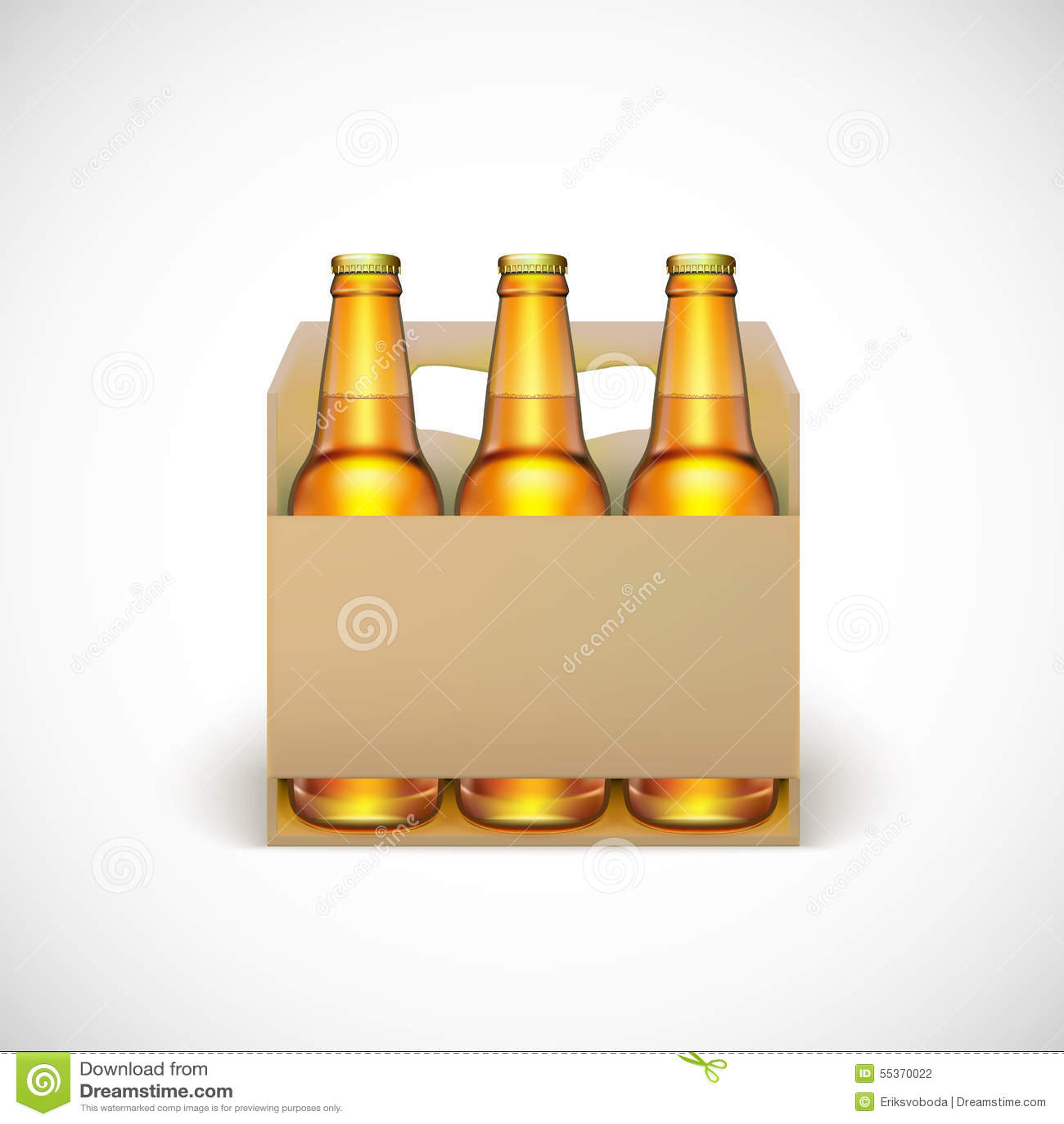 Verpackung des Bieres vektor abbildung. Illustration von symbol ...