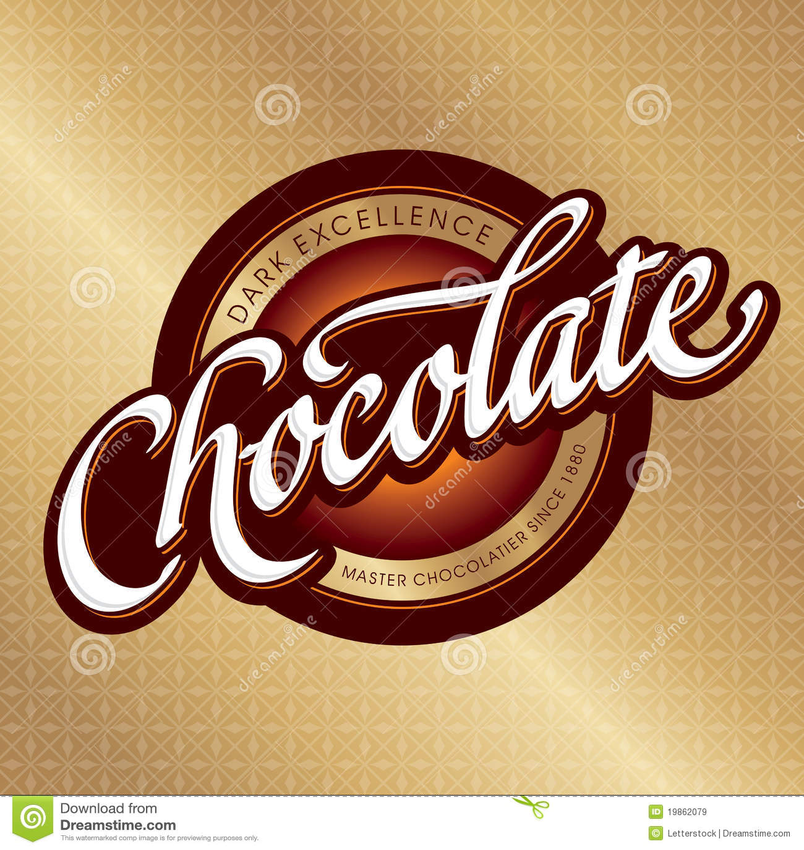 Verpackungsgestaltung der Schokolade (Vektor)