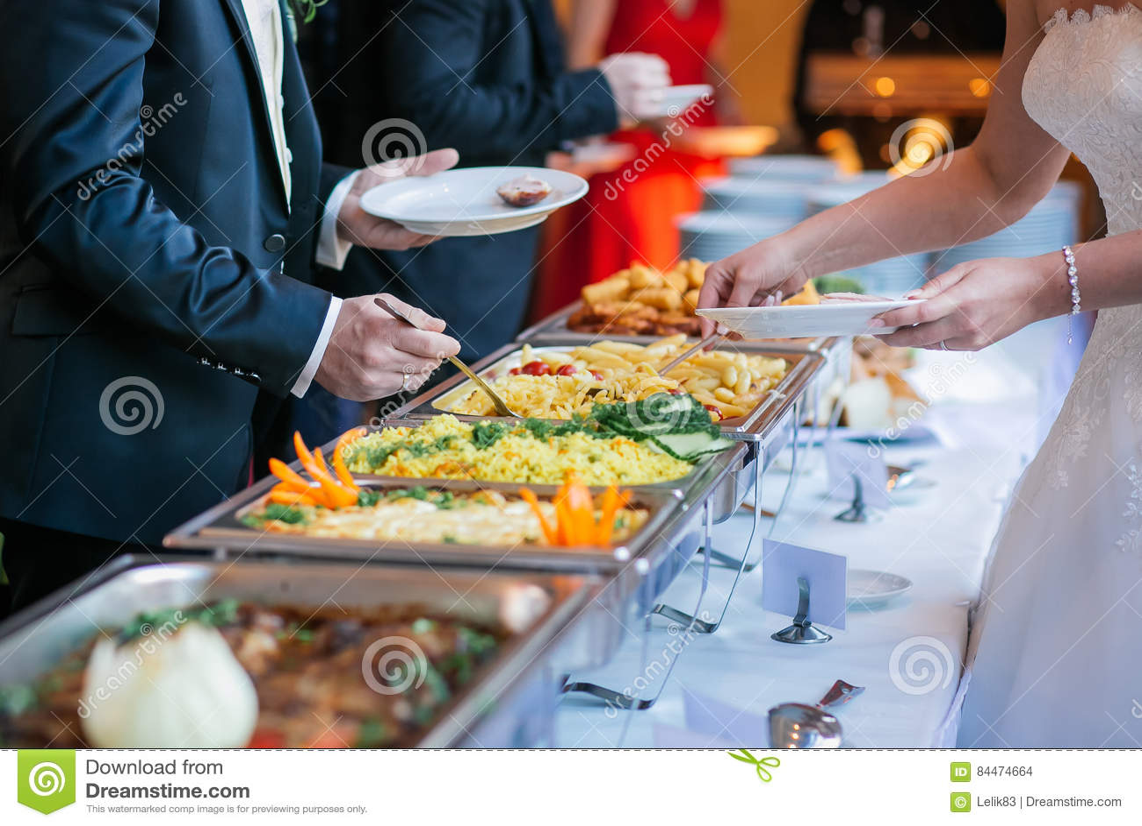 Verpflegungslebensmittel-Hochzeitsbuffet