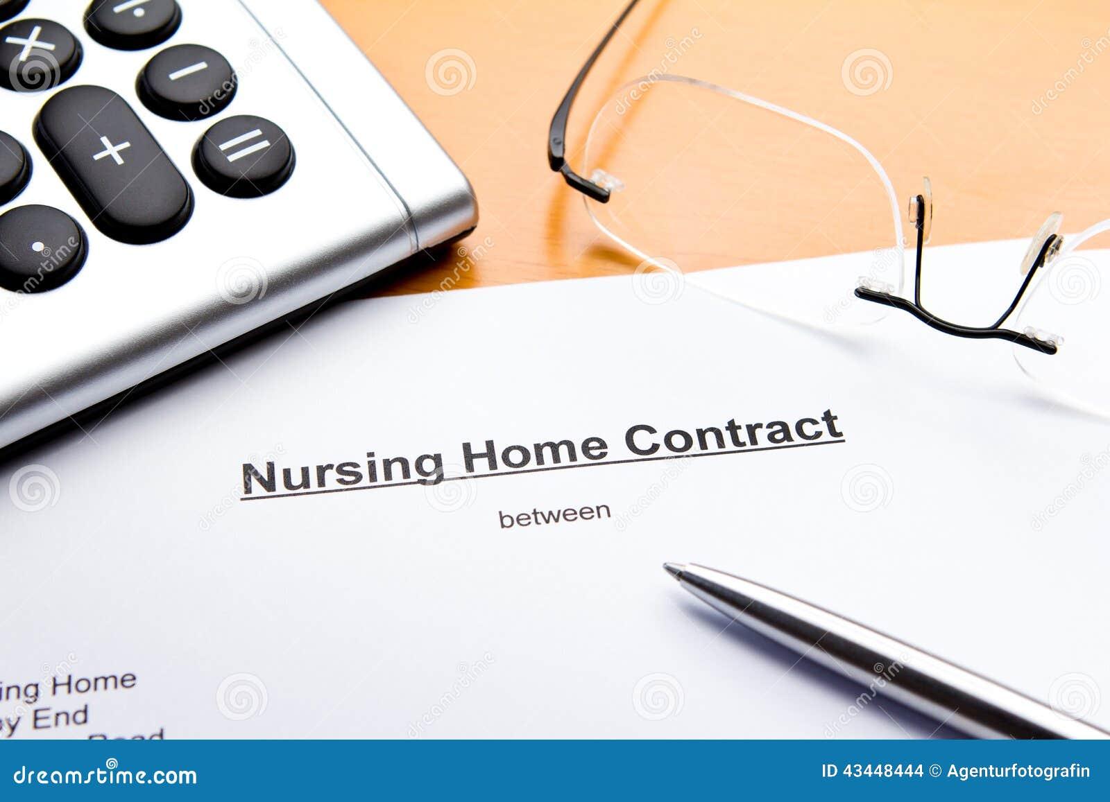 Verpleeghuiscontract of Overeenkomst