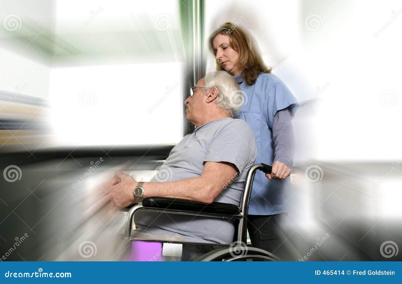Verpleegster en patiënt