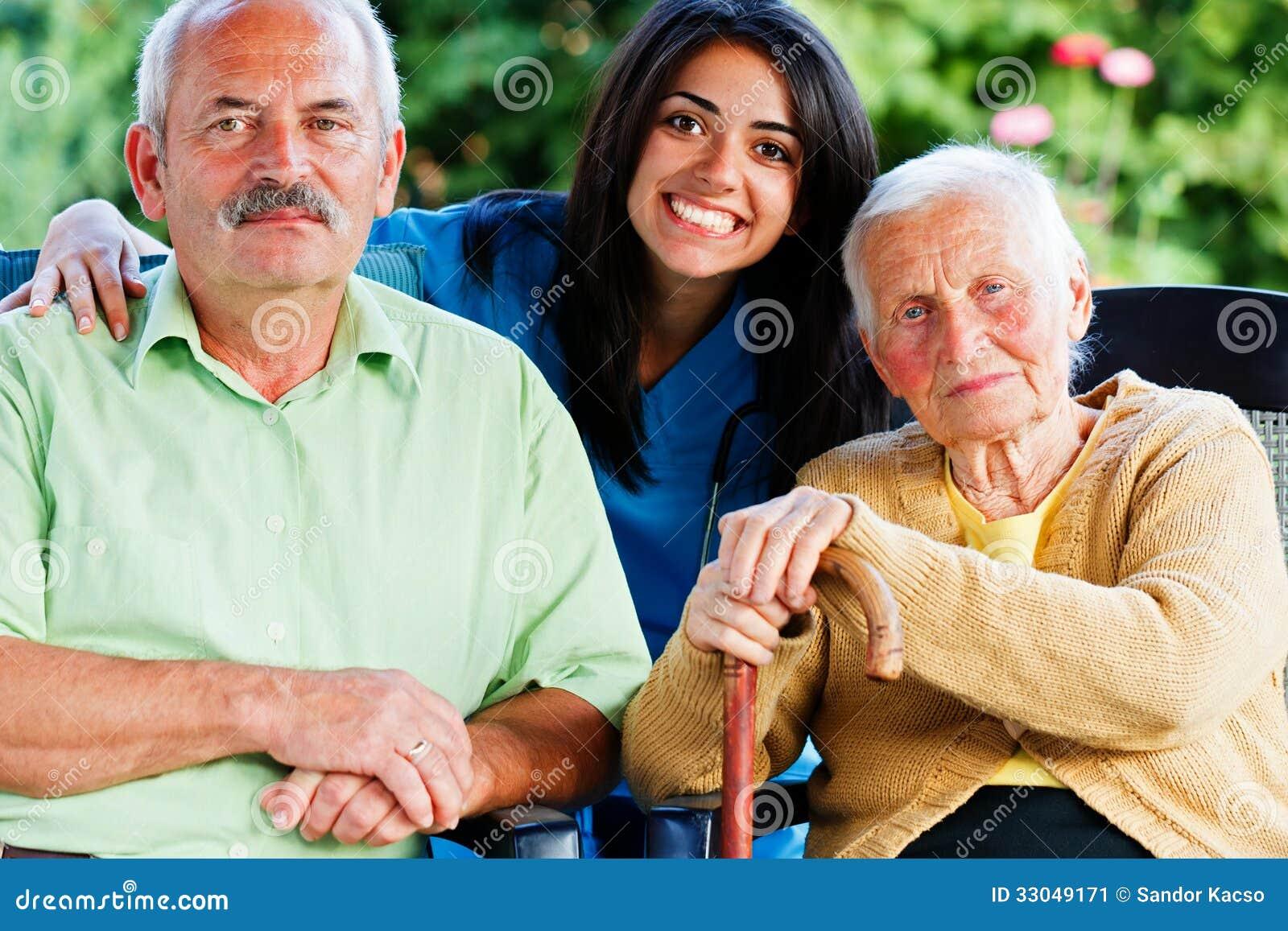 Verpleegster met Bejaarde Mensen