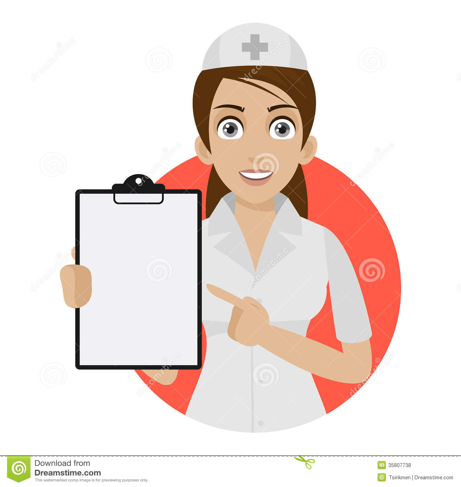 Verpleegsterspunten aan vorm in cirkel