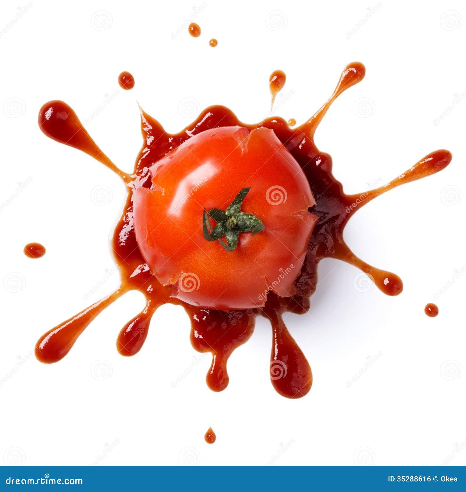 Verpletterde tomaat
