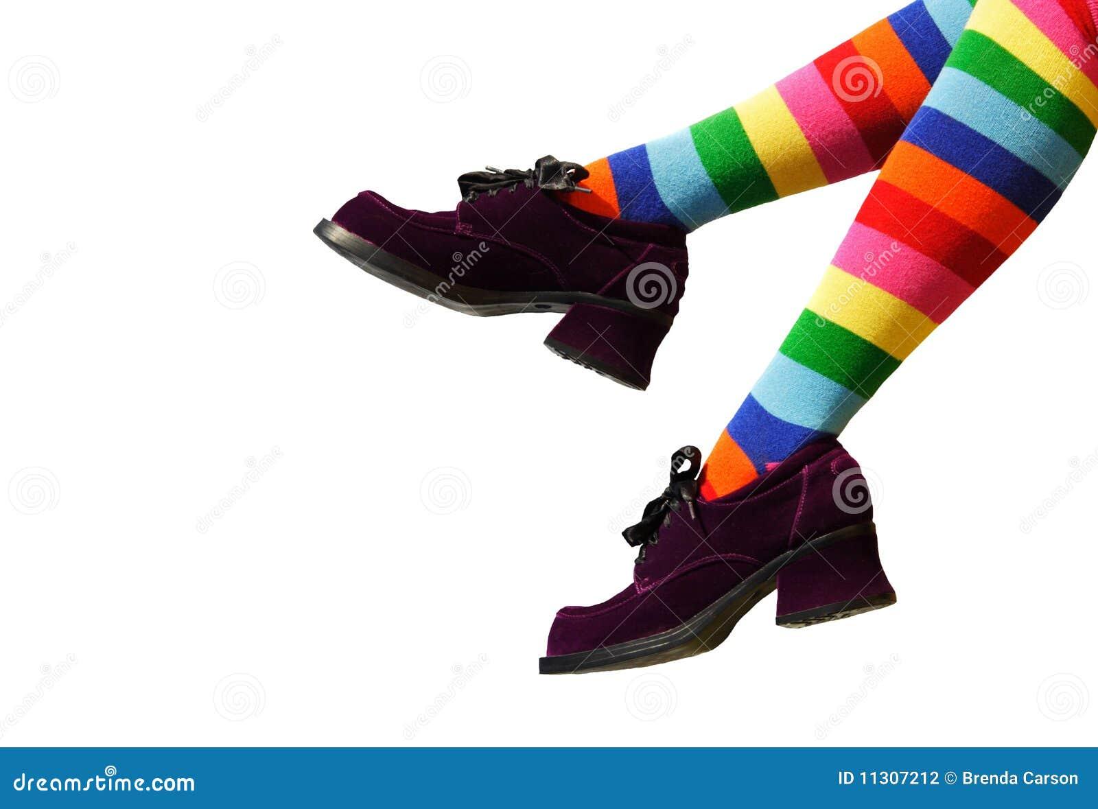 Verrückte Clown-Füße
