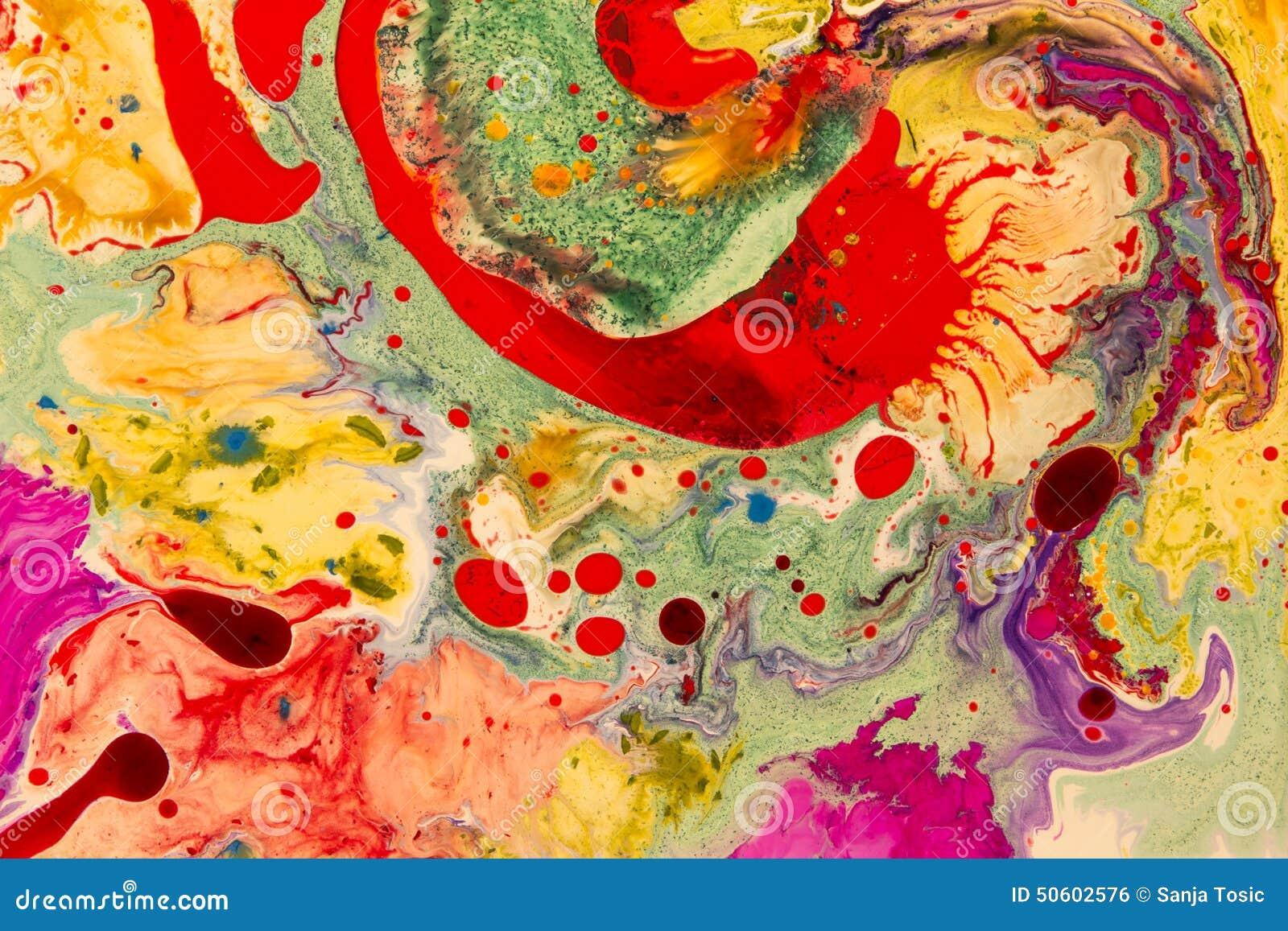 Verrückte Farben Formen Und Formen Flüssige Kunst Stockfoto - Bild ...