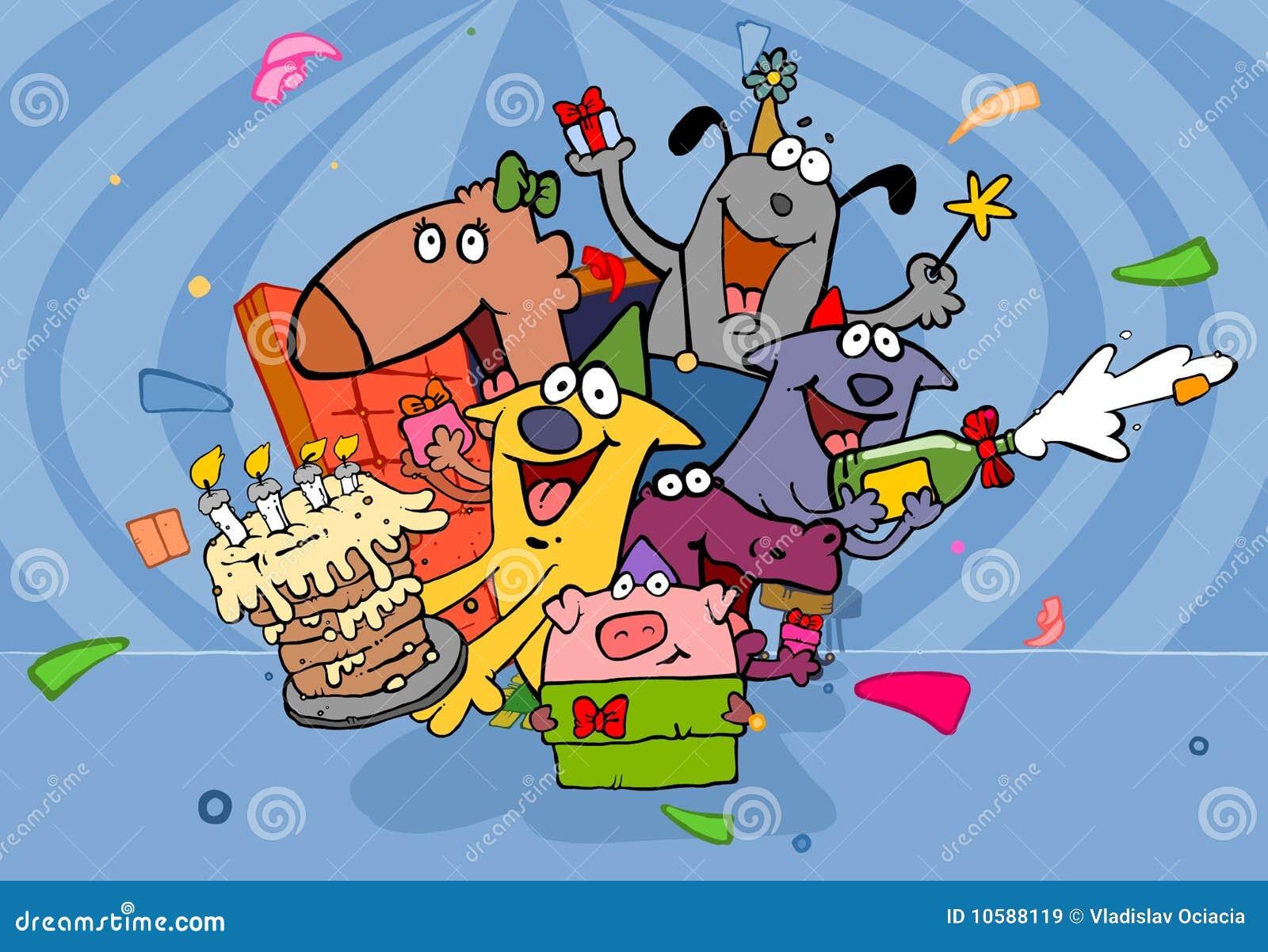 Verrassing Op Verjaardag Stock Illustratie Illustratie Bestaande