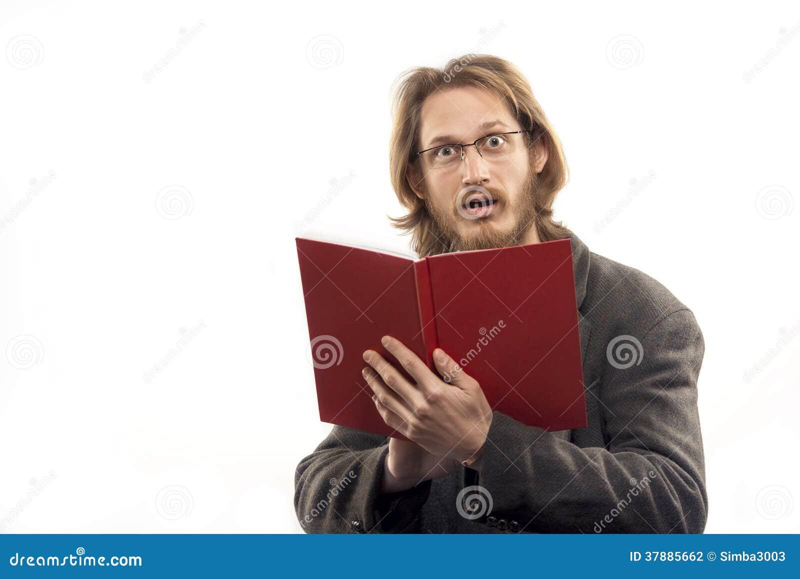 Verraste Mens met Rood Boek