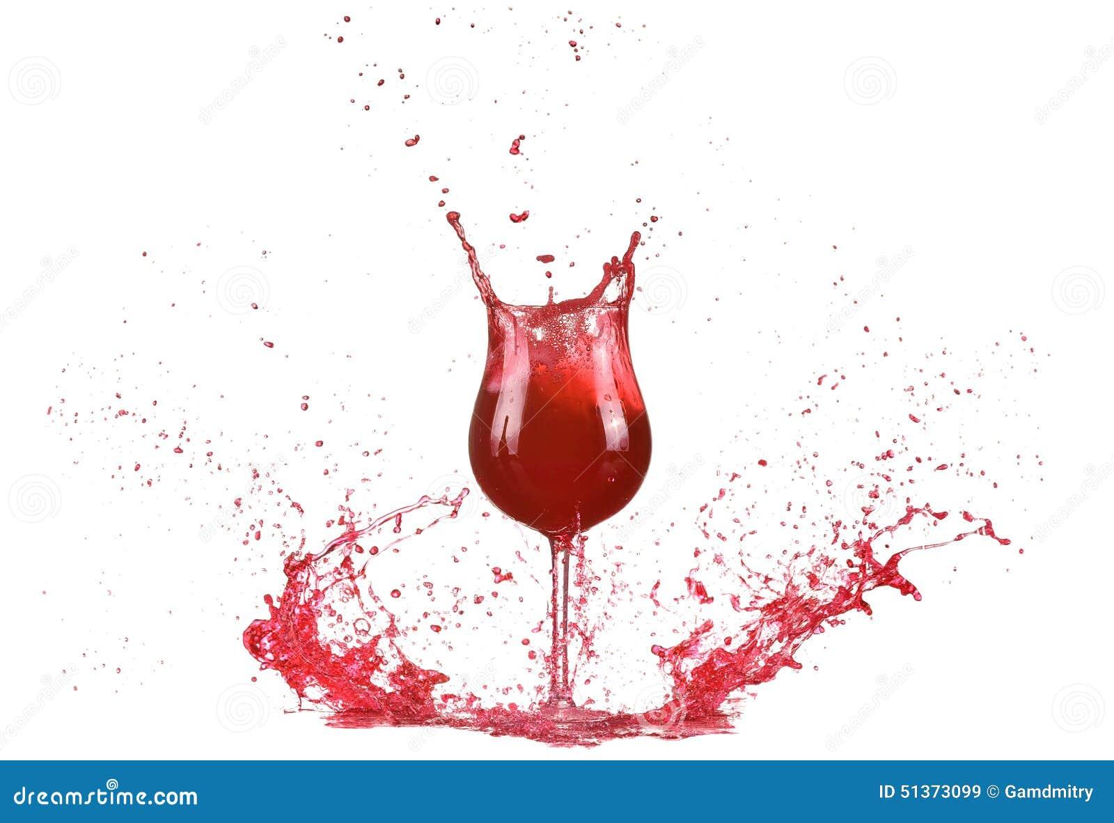 Verre avec le vin rouge claboussure de vin rouge vin for Ordre des verres sur la table