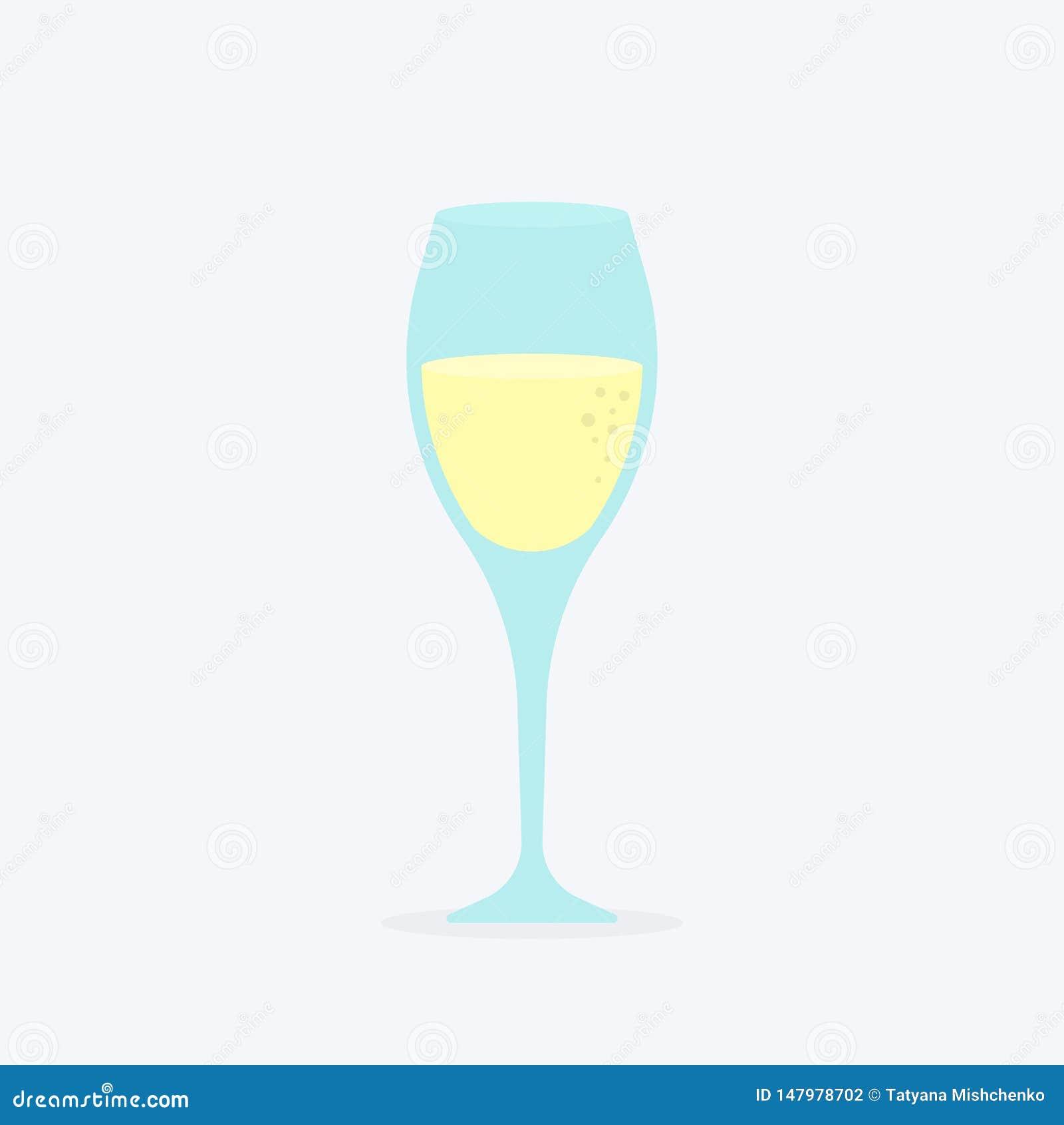 Verre de boisson de luxe classique d alcool de champagne en verrerie d élite, boisson régénératrice d établissement vinicole cher