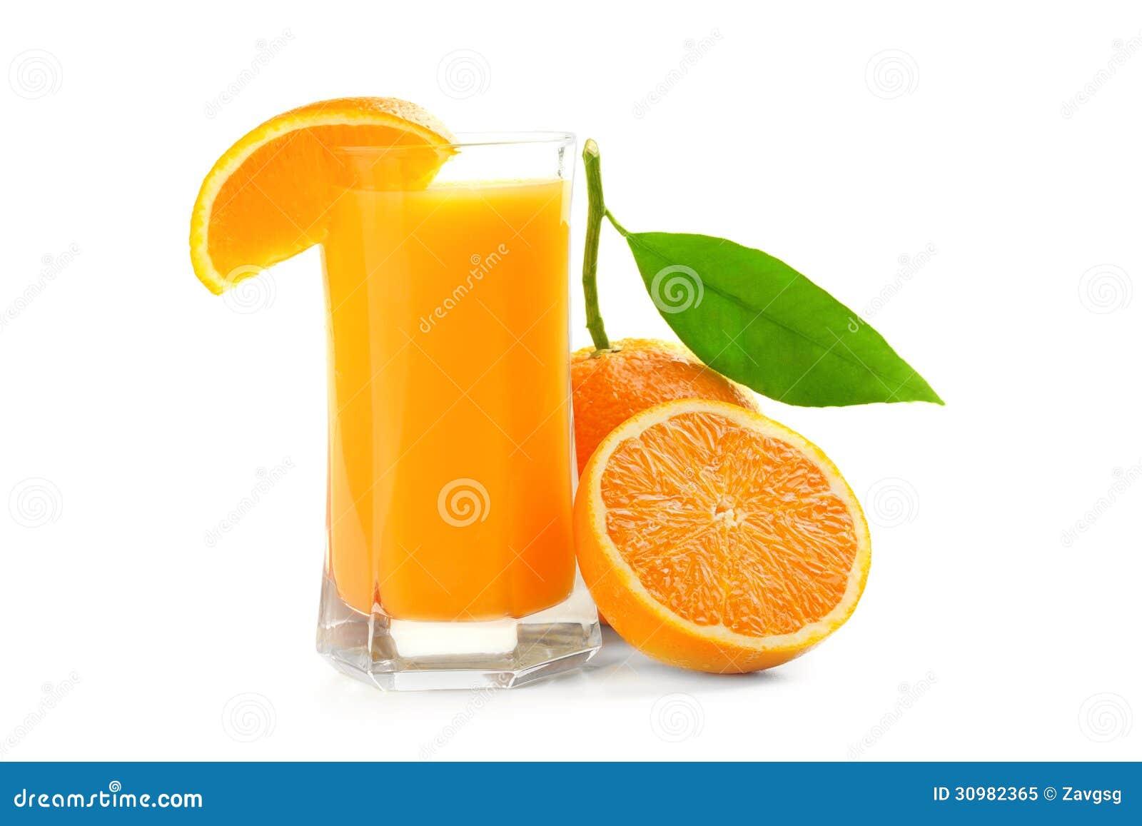 verre de jus et fruit orange photo libre de droits image 30982365. Black Bedroom Furniture Sets. Home Design Ideas