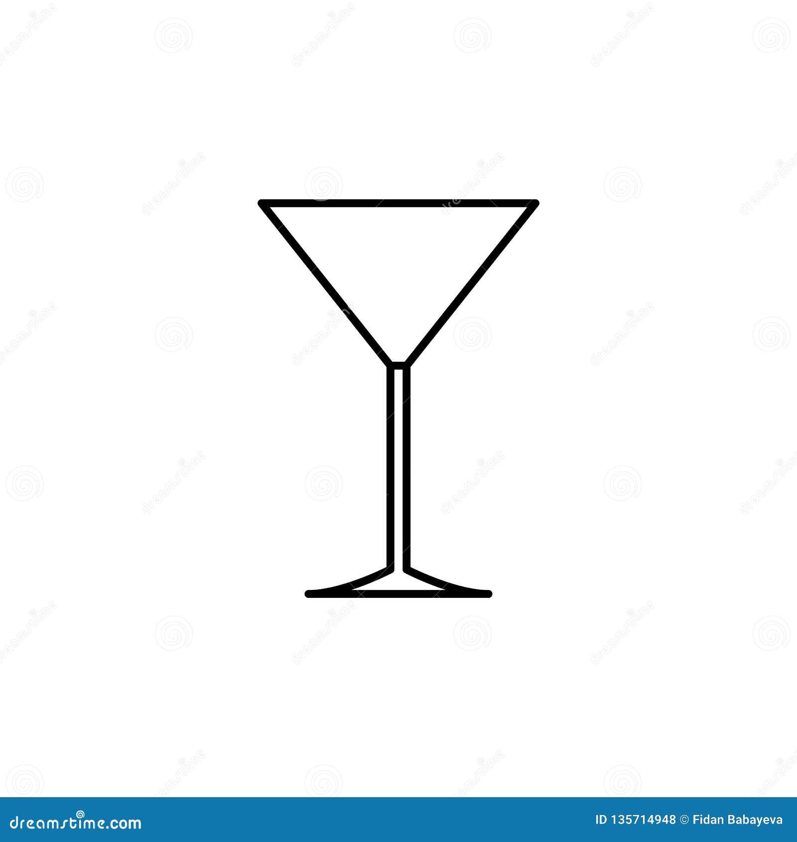 Verre de Martini, icône d étiquette de table Peut être employé pour le Web, logo, l appli mobile, UI, UX