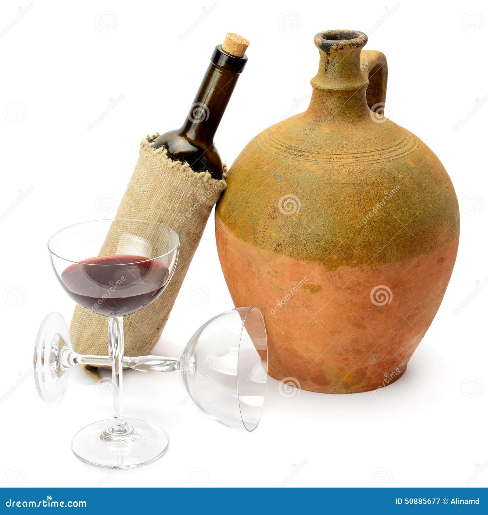 verre de vin de bouteille et d 39 amphore image stock image du l gant beau 50885677. Black Bedroom Furniture Sets. Home Design Ideas