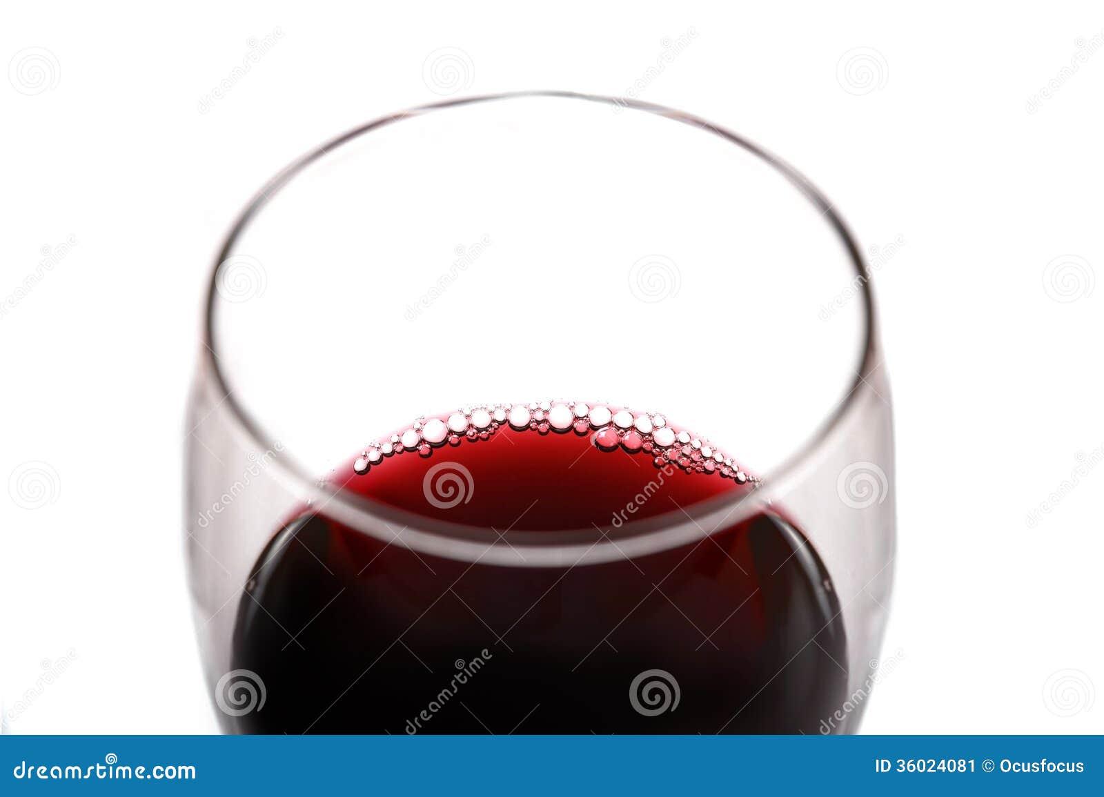 verre de vin rouge avec des bulles image stock image. Black Bedroom Furniture Sets. Home Design Ideas