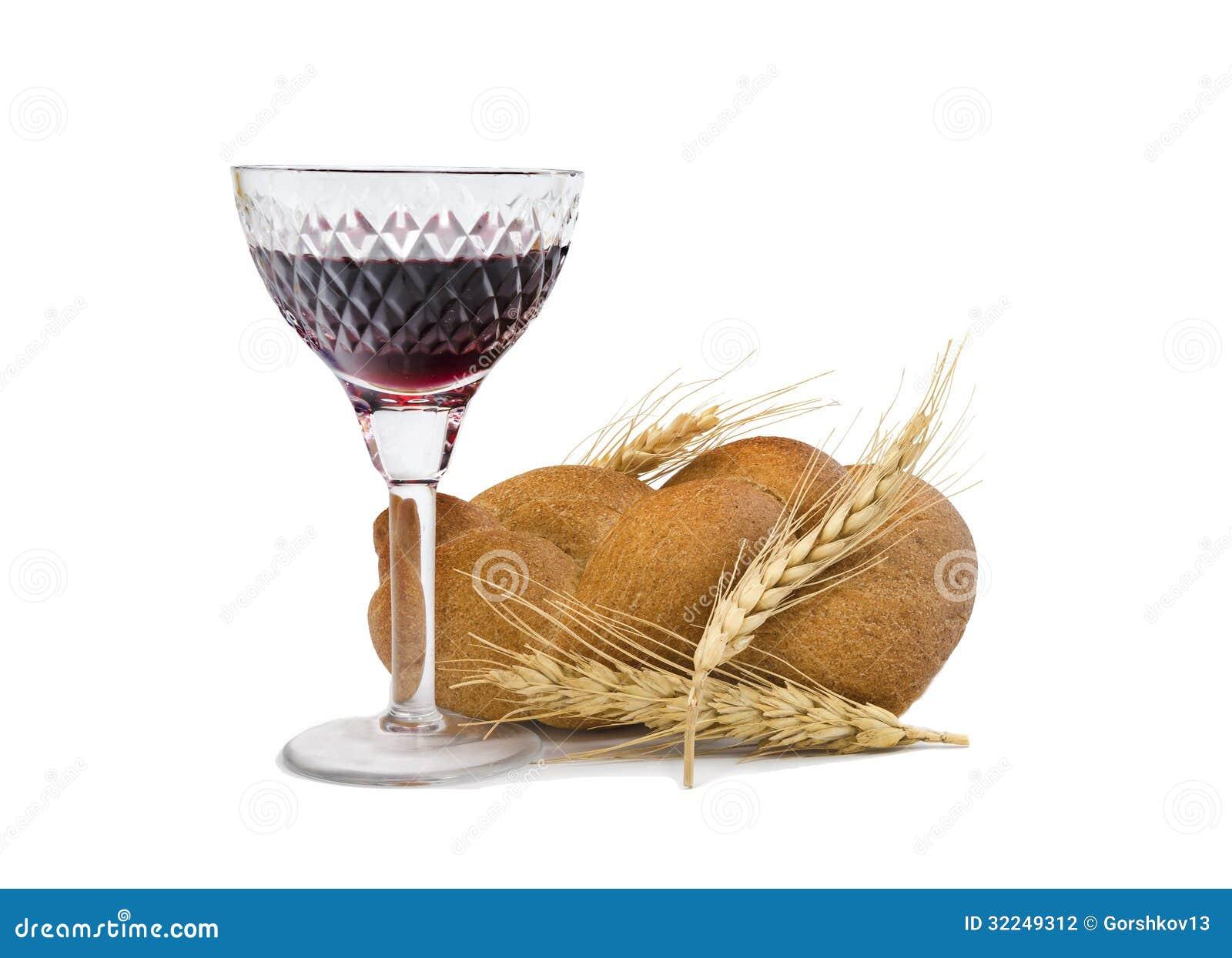 verre du vin rouge et du pain du sabbat photographie stock image 32249312. Black Bedroom Furniture Sets. Home Design Ideas