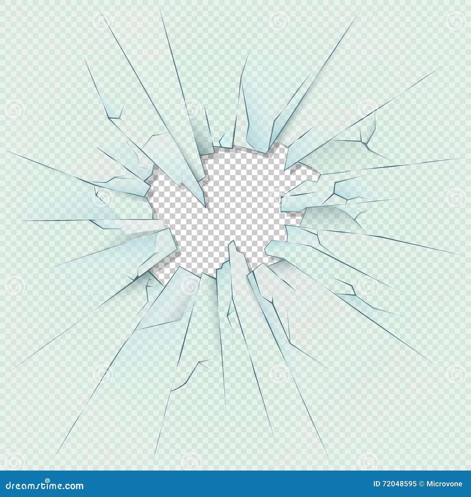 Verre transparent cass sur le fond carreaux de plaid illustration courante - Fenetre carreaux de verre ...