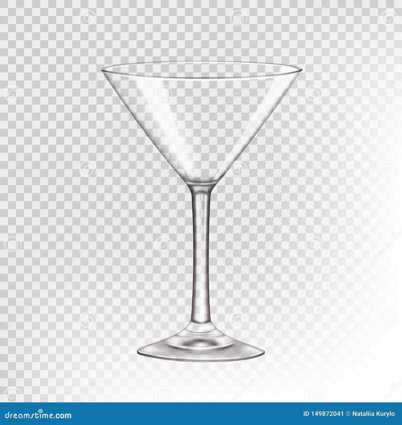 Verre vide pour les boissons alcoolisées, verre transparent