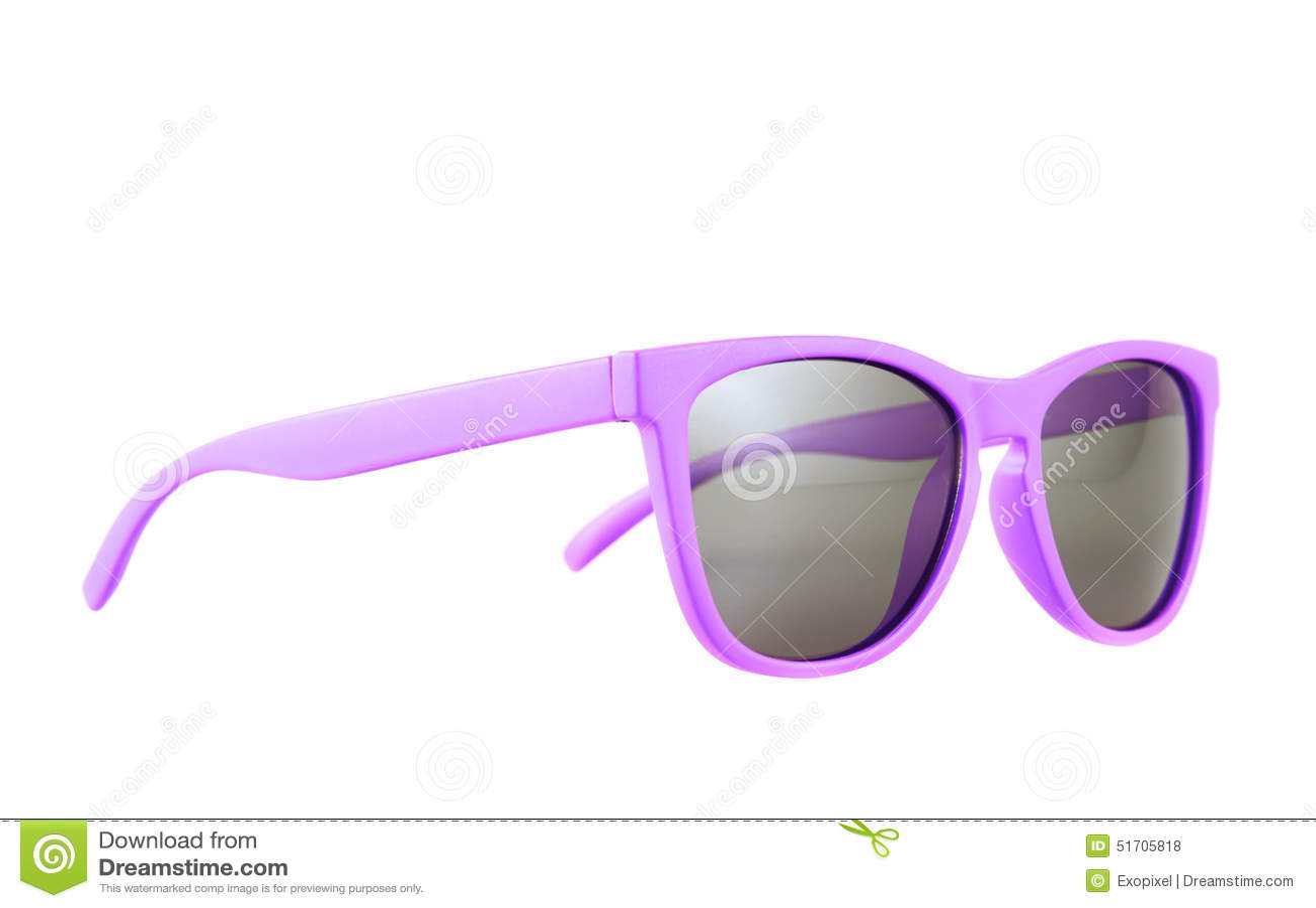 Verres de soleil violets d isolement