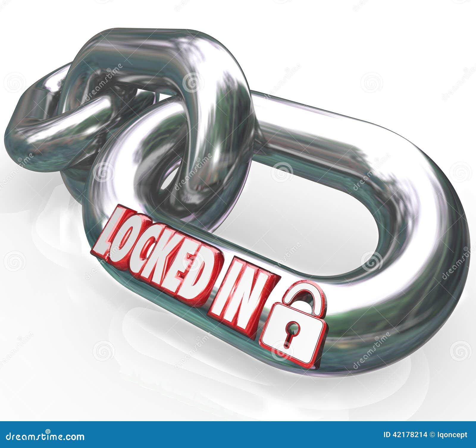Verrouillé dans l obligation contractuelle d engagement de maillons de chaîne de mots