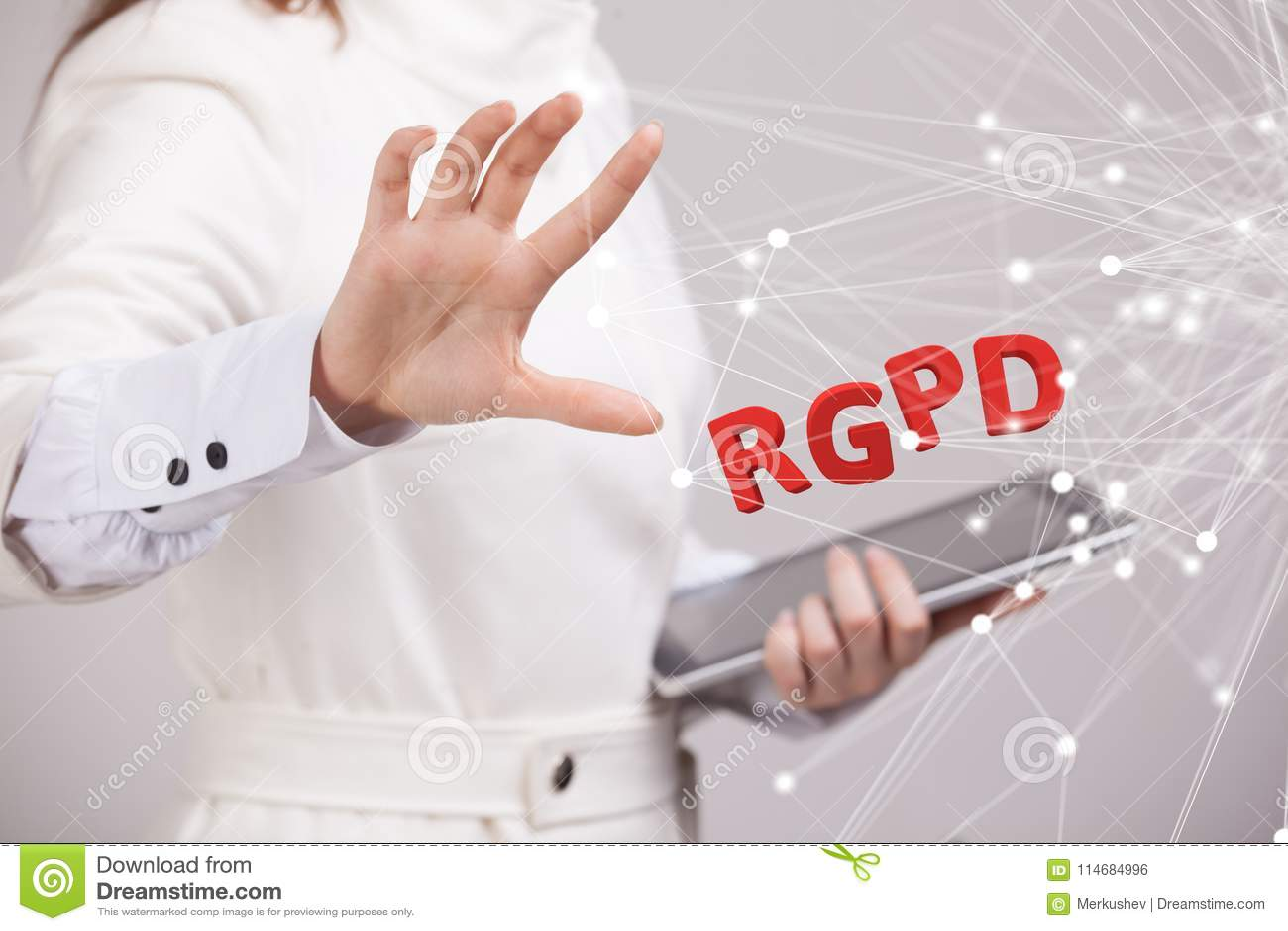Versão de RGPD, de espanhol, francesa e italiana da versão de GDPR: Datos de Reglamento Geral de Proteccion de Dados gerais