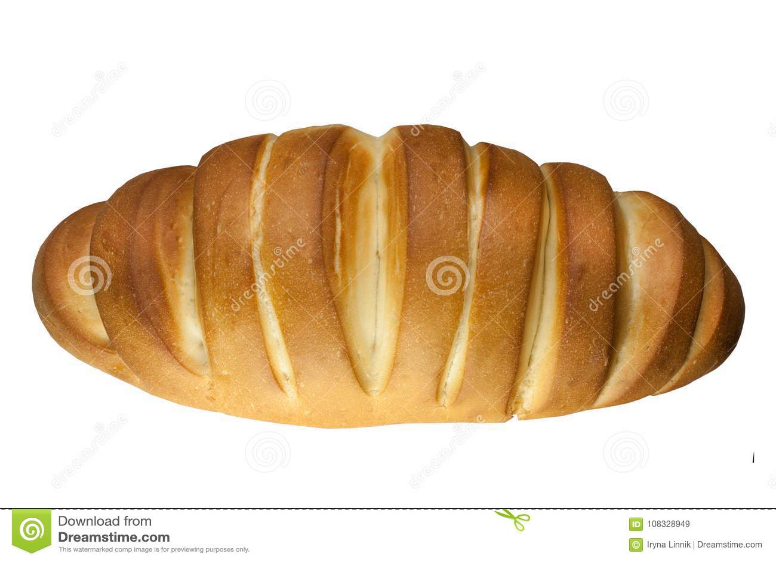 Vers heerlijk die brood, brood op witte achtergrond wordt geïsoleerd Hoogste mening