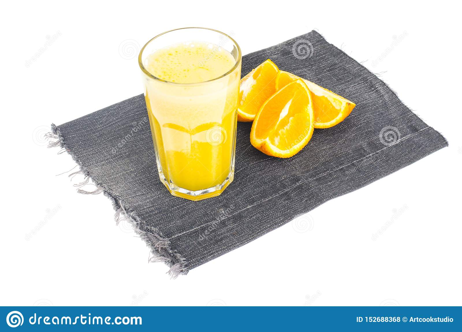 Vers jus d orange met pulp, gezond voedsel