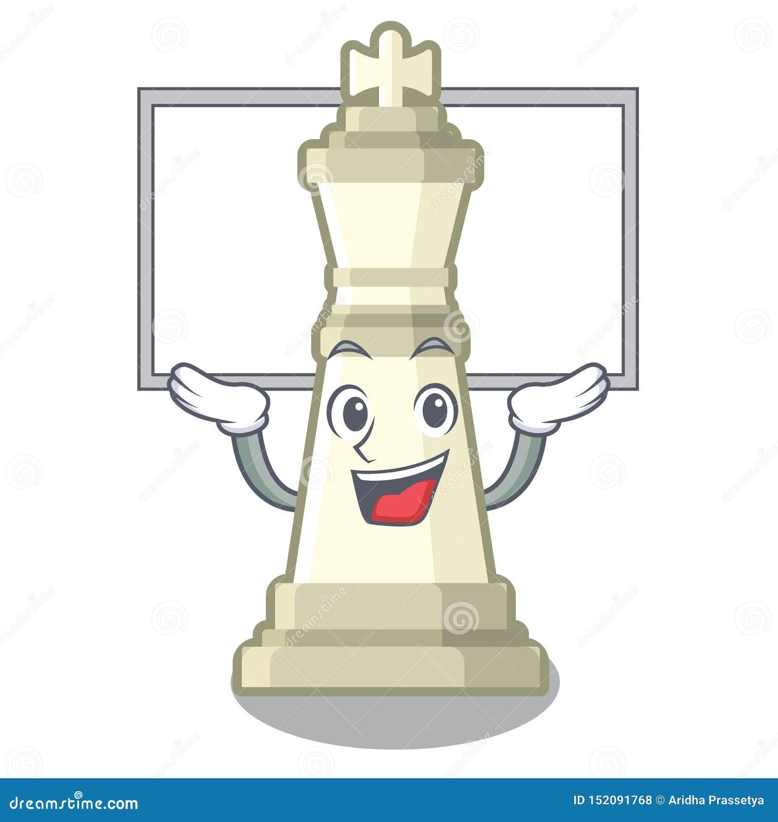 Vers le haut du roi d échecs de conseil d isolement dans le caractère