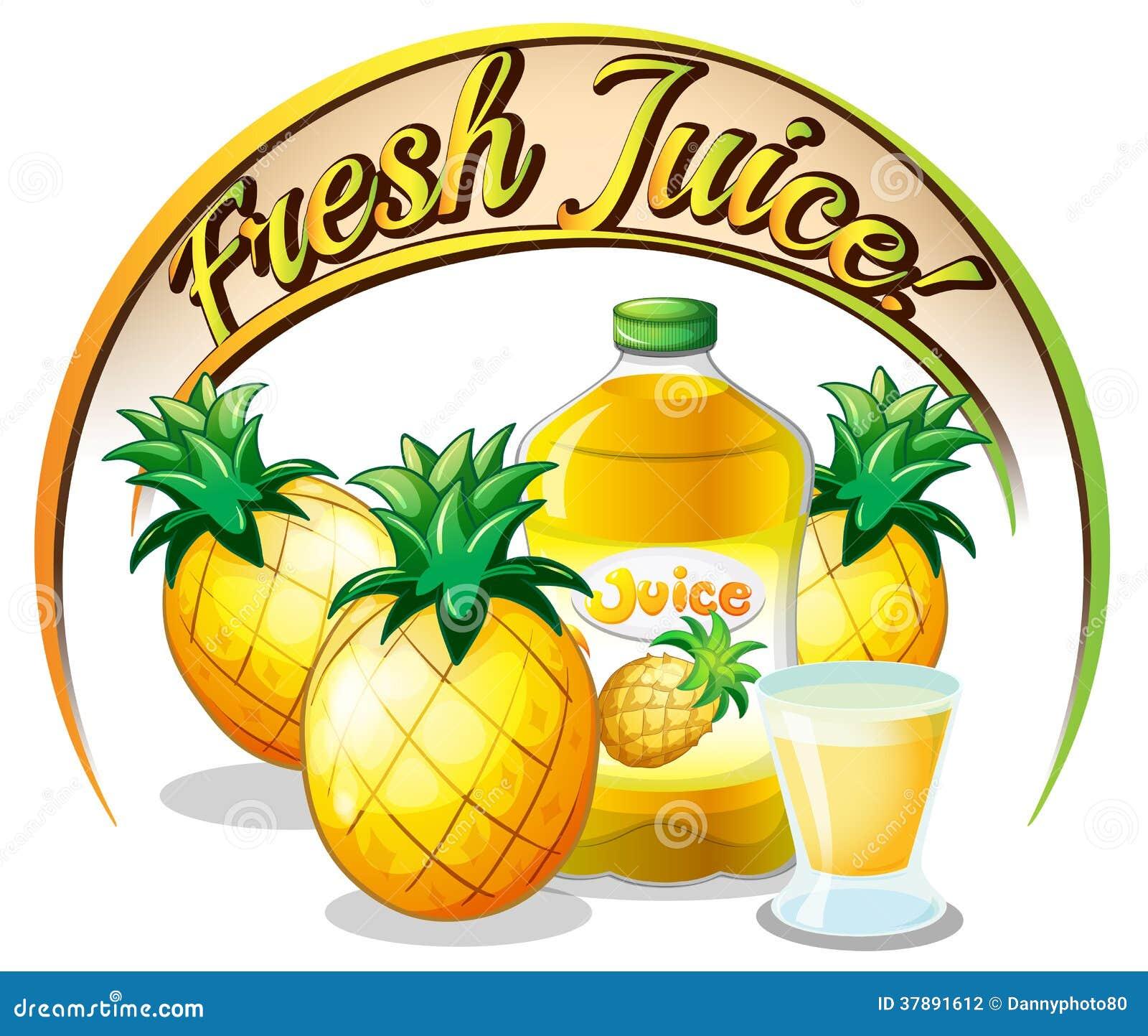 Vers sapetiket met ananassen