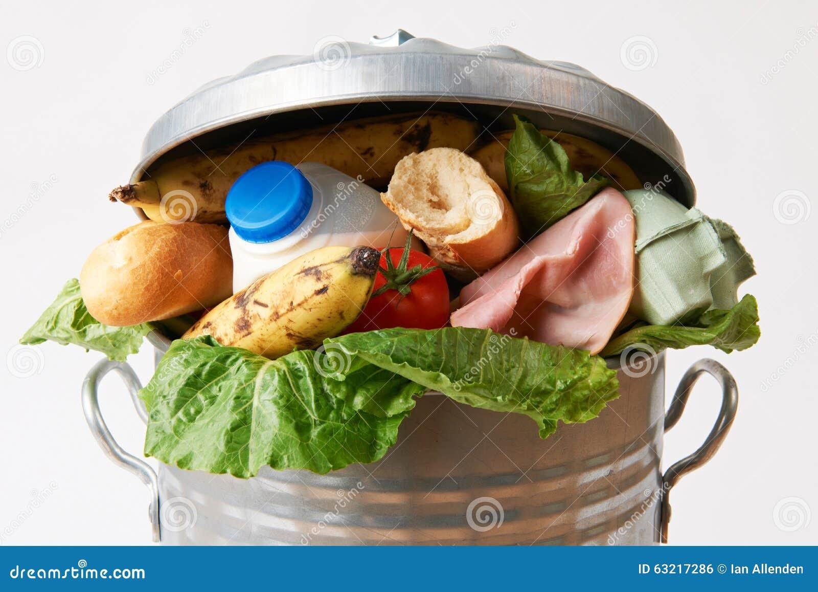 Vers Voedsel in Vuilnisbak om Afval te illustreren