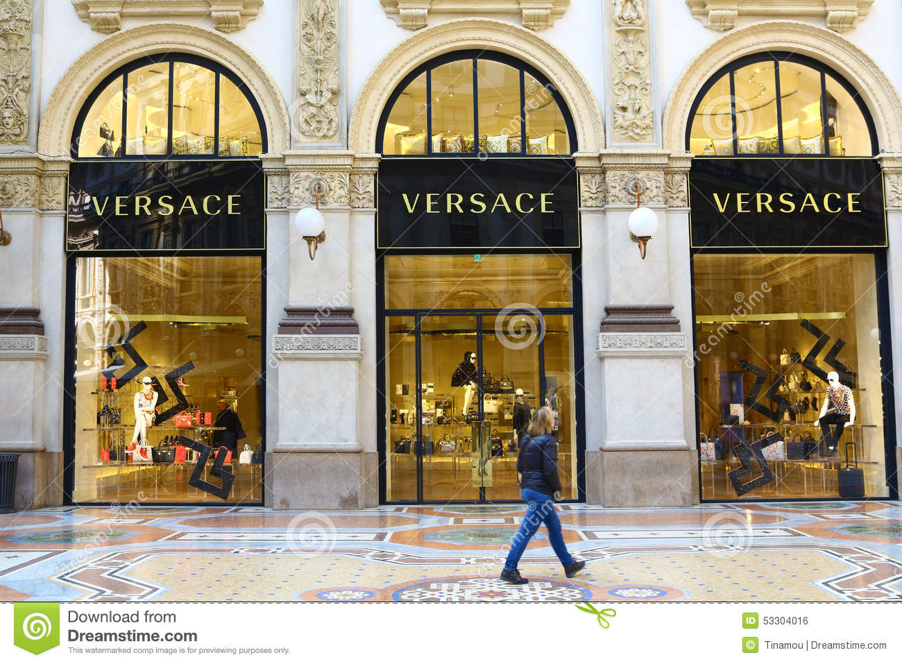 5a53b81694 Versace boutique in Milan editorial photo. Image of store - 53304016