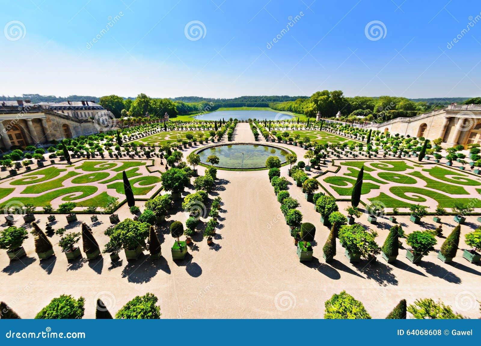 Versailles garten paris frankreich stockfoto bild for Architecte jardin versailles