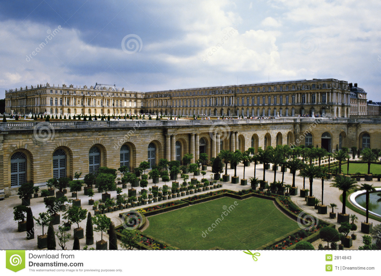versailles schloss stockbild bild von dach kultur garten 2814843. Black Bedroom Furniture Sets. Home Design Ideas