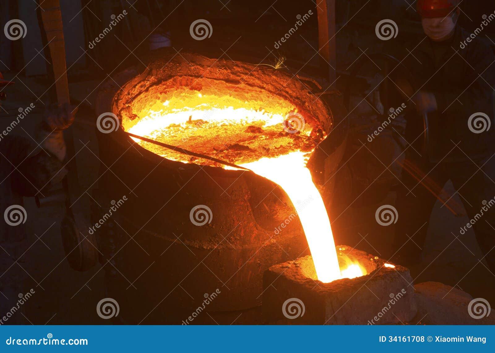 Versamento del metallo liquido