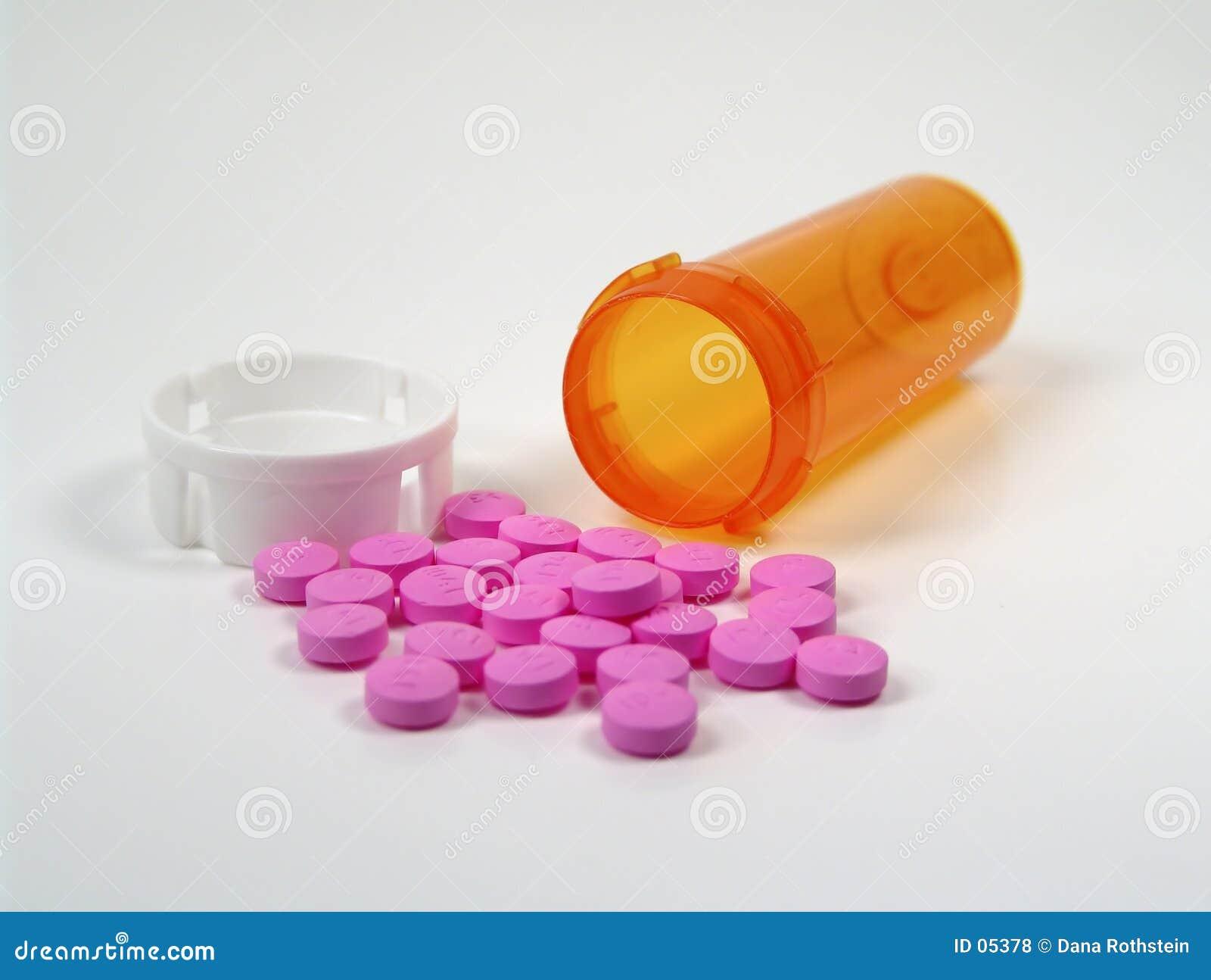 Verschüttete Pillen