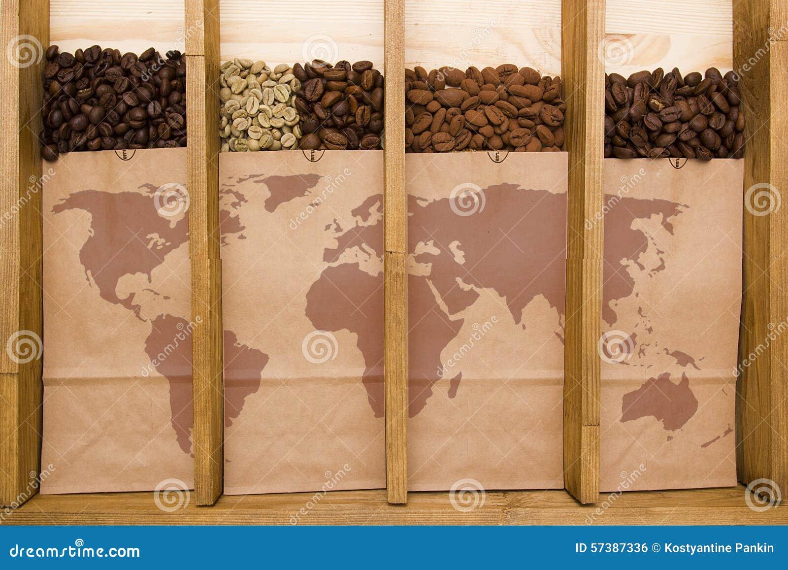 Verscheidenheden van verpakte koffie