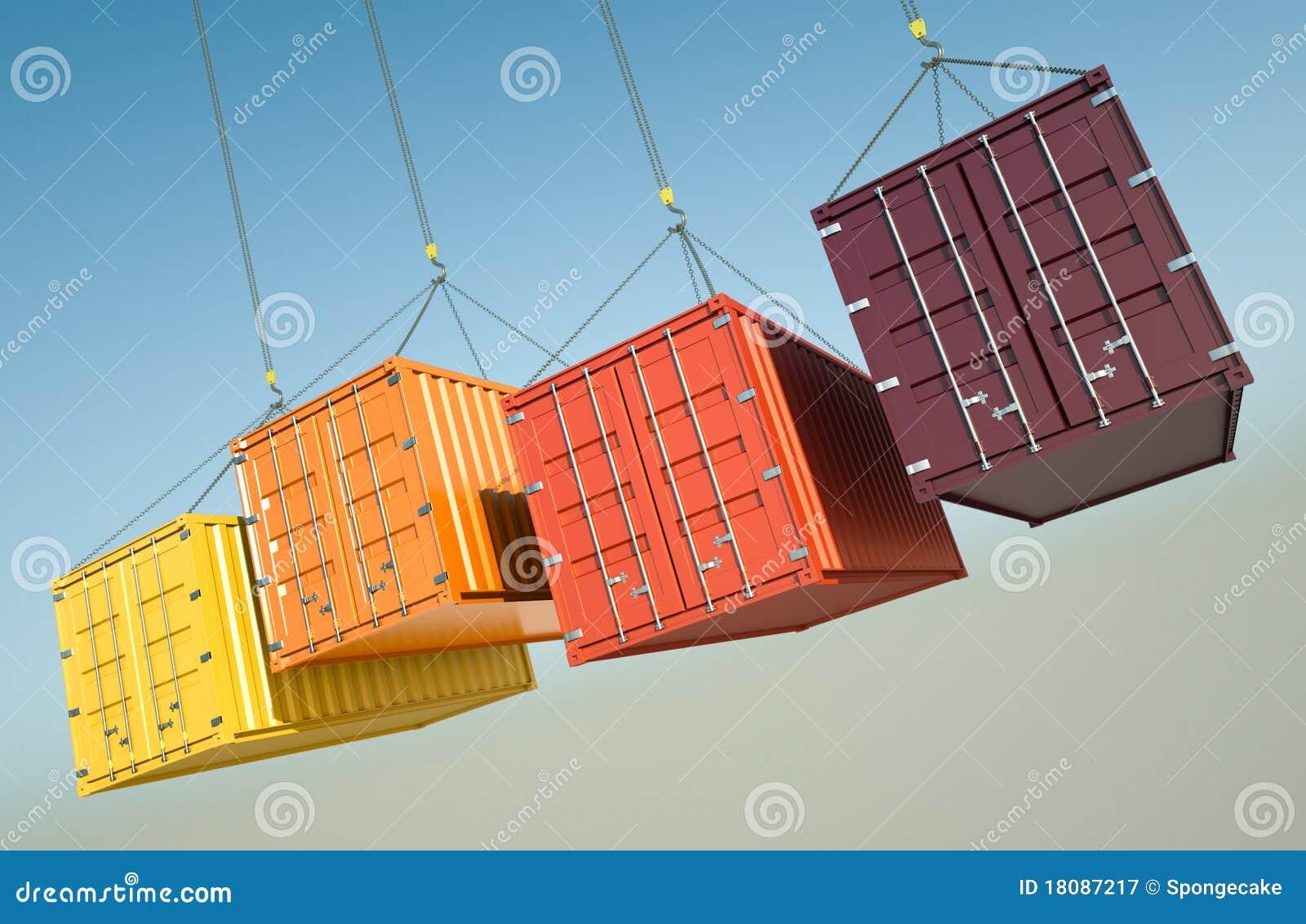 Verschepende Containers