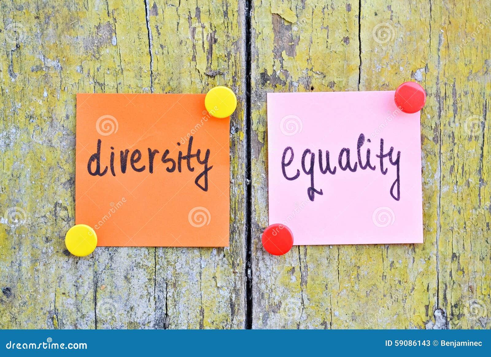 Verschiedenartigkeit und Gleichheit