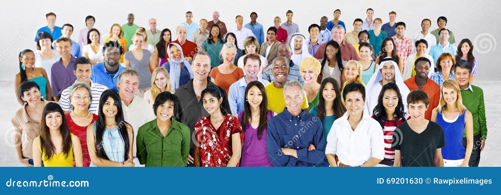 Verschiedenartigkeits-große Gruppe von Personenen-multiethnisches Konzept